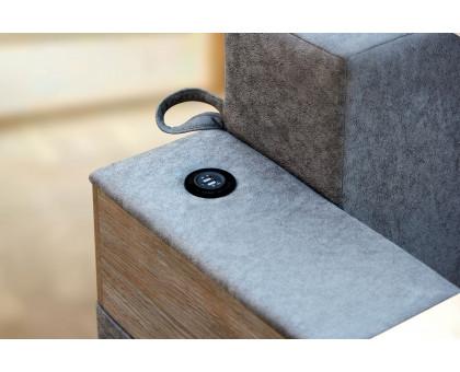 Диван єврокнижка Leonor SE з USB і підносами (тканина Safari)