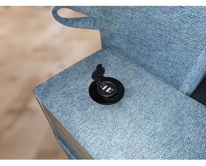 Диван єврокнижка Leonor SE з USB і підносами (тканина Lido)
